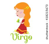 virgo cartoon character. sign... | Shutterstock .eps vector #418215673