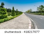 Concrete Block Footpath In The...