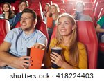 cinema  entertainment and... | Shutterstock . vector #418224403