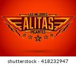 alitas picantes las mejores  ... | Shutterstock .eps vector #418232947