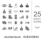 money icon set. coin and money... | Shutterstock .eps vector #418243843