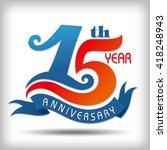 template logo 15th anniversary... | Shutterstock .eps vector #418248943