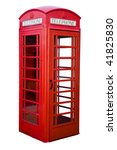 English Red Phone Box Isolated...