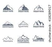 mountains logo  vector... | Shutterstock .eps vector #418289017