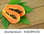 Small photo of Ripe papaya, Pawpaw or Tree melon (Carica papaya L) which Rich in Betacarotene, Vitamin C, Fiber and Papine Enzyme.