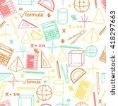 math seamless white pattern....   Shutterstock .eps vector #418297663
