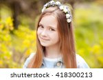 Smiling Teen Girl 12 14 Year...