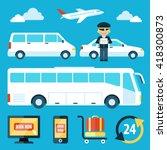 vector set of airport... | Shutterstock .eps vector #418300873