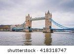 tower bridge in london  the uk. ... | Shutterstock . vector #418318747