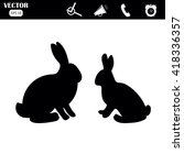 rabbit icon. | Shutterstock .eps vector #418336357