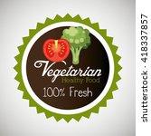organic food design  | Shutterstock .eps vector #418337857