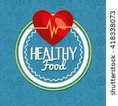 organic food design  | Shutterstock .eps vector #418338073