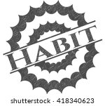 habit pencil effect | Shutterstock .eps vector #418340623