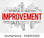 improvement word cloud ... | Shutterstock . vector #418341463