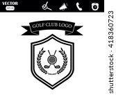 golf club logo | Shutterstock .eps vector #418360723