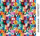 vibrant multicoloured kidnapper ... | Shutterstock .eps vector #418374217