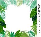 vector tropical jungle...   Shutterstock .eps vector #418377403