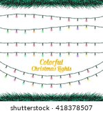colorful christmas lights | Shutterstock .eps vector #418378507