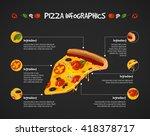 pizza infographics. vector... | Shutterstock .eps vector #418378717