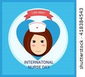 international nurse day | Shutterstock .eps vector #418384543