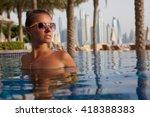 enjoyment   free happy woman... | Shutterstock . vector #418388383