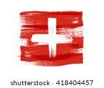 switzerland colorful brush... | Shutterstock .eps vector #418404457