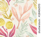 seamless floral pattern on... | Shutterstock . vector #418406593