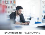 student preparing exam and... | Shutterstock . vector #418409443