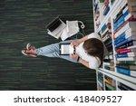 Female Student Study In Librar...