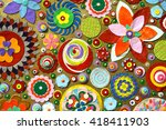 abstract background of flowers. ... | Shutterstock . vector #418411903