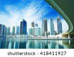 panorama of the luxury center... | Shutterstock . vector #418411927