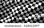 checkered flag  end race... | Shutterstock . vector #418413397