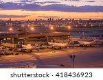 sky harbor airport  phoenix az... | Shutterstock . vector #418436923