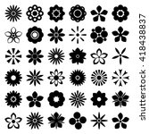 flower icon set. flower vintage ... | Shutterstock .eps vector #418438837