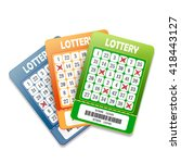 lottery tickets isolated on... | Shutterstock .eps vector #418443127