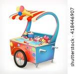 ice cream trolley  vector icon   Shutterstock .eps vector #418446907