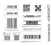 barcode label set vector | Shutterstock .eps vector #418452877