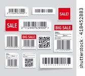barcode label and sale vector... | Shutterstock .eps vector #418452883