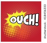 isolated comic expression on a... | Shutterstock .eps vector #418456333