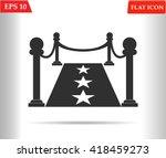 red carpet icon.vector...   Shutterstock .eps vector #418459273