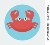Red Crab With A Single Pair Of...
