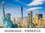 new york cityscape  tourism... | Shutterstock . vector #418463113