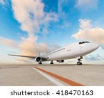 commercial airplane | Shutterstock . vector #418470163