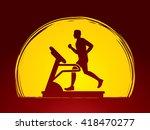 man running on a treadmill...