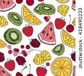 stylized seamless pattern with  ...   Shutterstock .eps vector #418490233