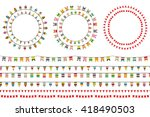 round festive frames with flags ... | Shutterstock .eps vector #418490503