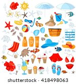 tropical vacation  summer... | Shutterstock .eps vector #418498063