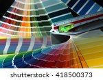 close up of color guide spread... | Shutterstock . vector #418500373
