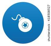 bomb icon design on blue...