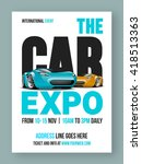 the car expo template  banner... | Shutterstock .eps vector #418513363